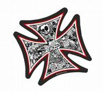 IRON CROSS With Black & White JDM Style Stickerbomb Motif External Vinyl Car Sticker 95x95mm